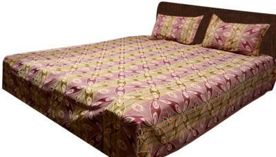 Loomkart Cotton Abstract Double Bedsheet