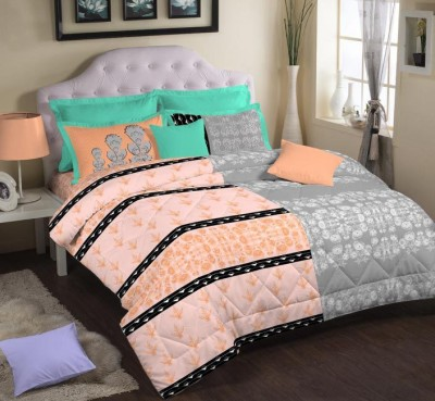 Portico New York Cotton Abstract King sized Double Bedsheet