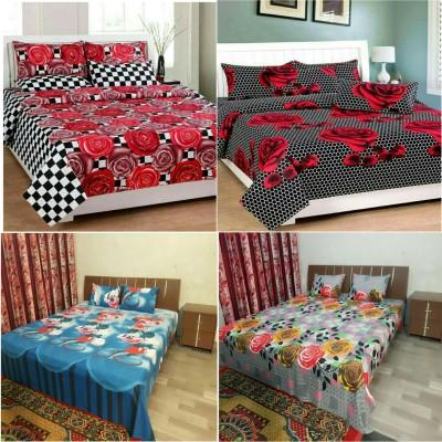 GARIMA 3 STAR Cotton Cartoon Double Bedsheet