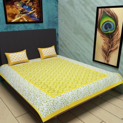 Kamla Enterprises Cotton Printed Single Bedsheet