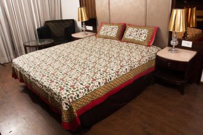 The india printex Cotton Floral Double Bedsheet