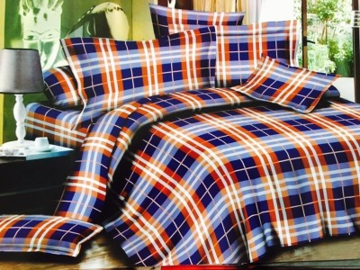 Creativezone Cotton Checkered King sized Double Bedsheet