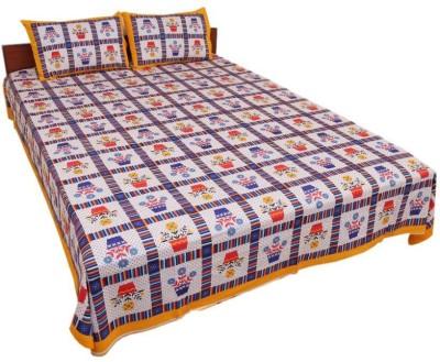 UFC Mart Cotton Floral Queen sized Double Bedsheet
