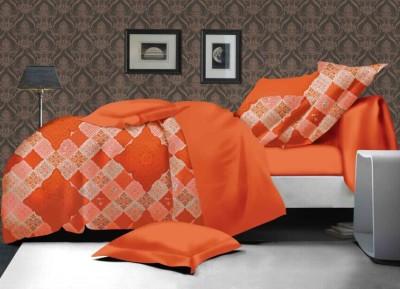 Portia Polycotton Checkered King sized Double Bedsheet