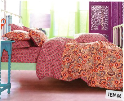 Pv Agora Cotton Printed Double Bedsheet