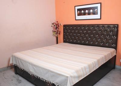 FLIER01 Linen Striped Double Bedsheet