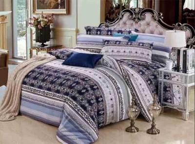 Portia Polycotton Striped King sized Double Bedsheet