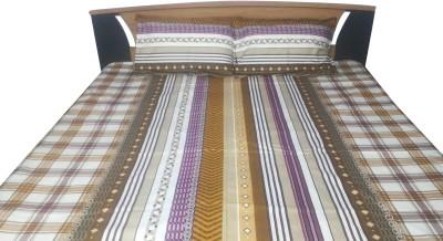 Aashri Cotton Striped Double Bedsheet