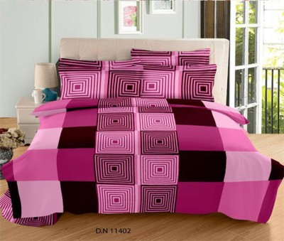 NIVRATI Cotton Geometric Double Bedsheet