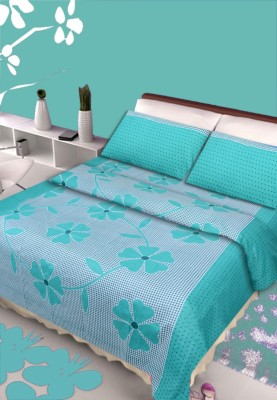 Aazeem Cotton Floral Double Bedsheet