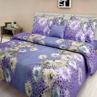 First Row Cotton Floral King sized Double Bedsheet