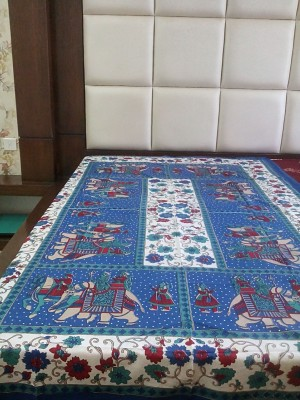 Rajasthan Crafts Cotton Printed Single Bedsheet