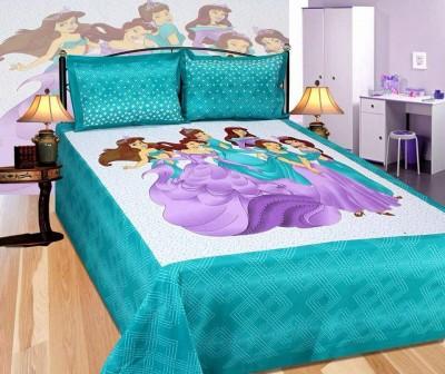 Kalakriti Creations Cotton Printed King sized Double Bedsheet