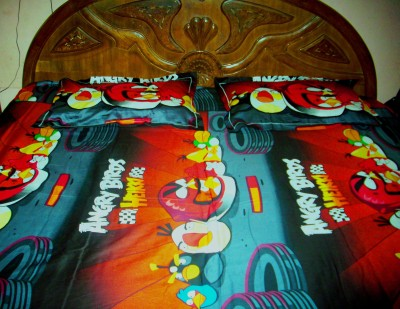 Lak Cotton Cartoon Double Bedsheet