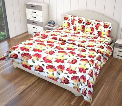 Just Linen Cotton Floral King sized Double Bedsheet