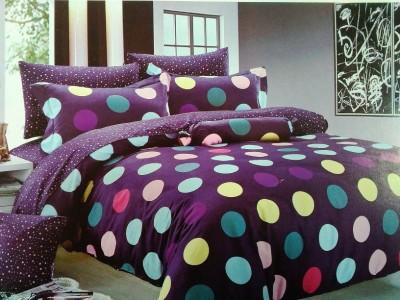 Rose Petal Cotton Polka Double Bedsheet