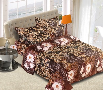 Home Creations Polycotton 3D Printed Double Bedsheet