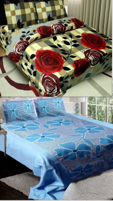 Dreams Home Cotton Floral Double Bedsheet