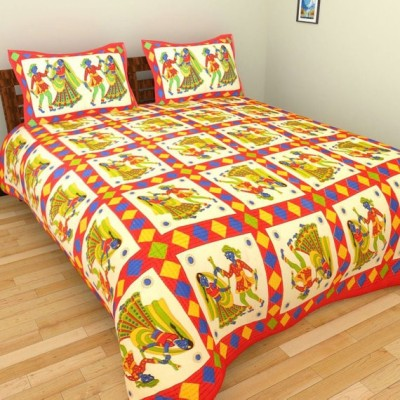 Fashion fab Cotton Printed Queen sized Double Bedsheet