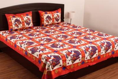 SheetKart Cotton Polka Double Bedsheet