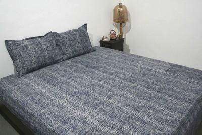 RaghurajLifestyle Cotton Striped Double Bedsheet
