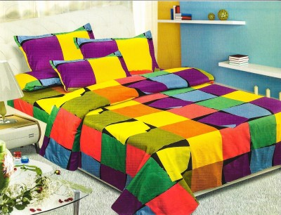 Dreaming Cotton Polycotton Checkered Double Bedsheet