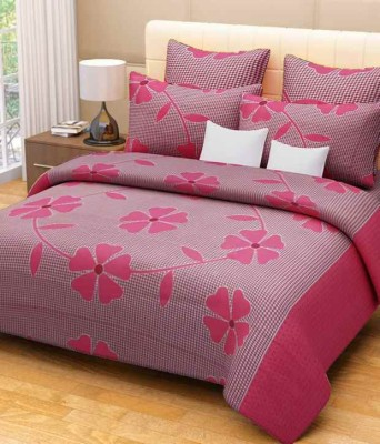 divine creations Cotton 3D Printed Double Bedsheet