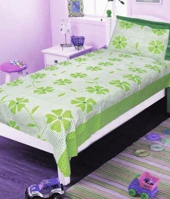 Zesture Cotton Floral Single Bedsheet