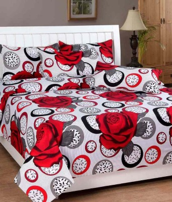ZirconHomes Cotton Floral Double Bedsheet