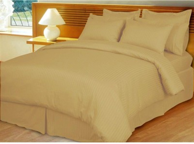 Feel Soft Satin Striped King sized Double Bedsheet