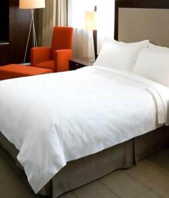Exporthub Cotton Plain Double Bedsheet