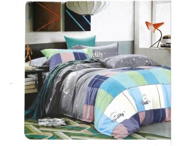 Sudesh Handloom Cotton Checkered Queen sized Double Bedsheet