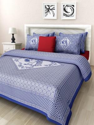 Bul Prints Cotton Floral Double Bedsheet