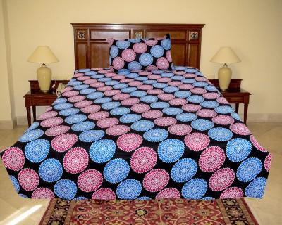 El Sandalo Cotton Floral Double Bedsheet