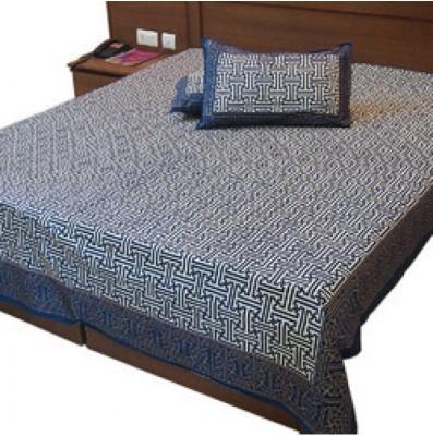 shoppingtara Cotton Abstract Queen sized Double Bedsheet