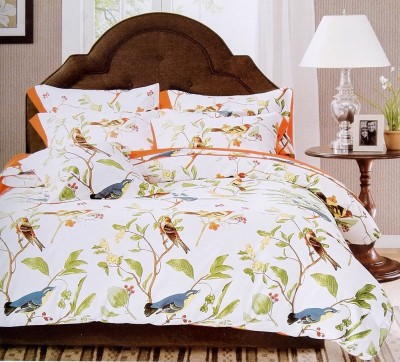 Silver Thread Polycotton Floral King sized Double Bedsheet