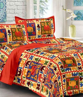 Divy Fusion Fashion Cotton Printed Double Bedsheet
