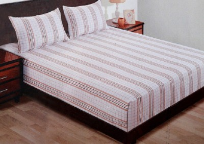 WG Fabs Cotton Striped Double Bedsheet