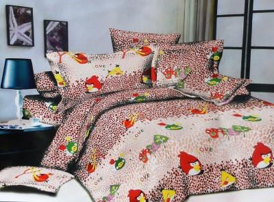 Amk Home Decor Polycotton Cartoon Double Bedsheet