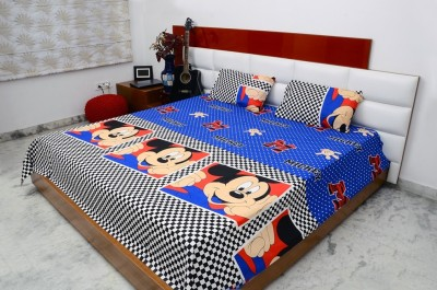 Balaji Texo Fab Cotton Printed Double Bedsheet