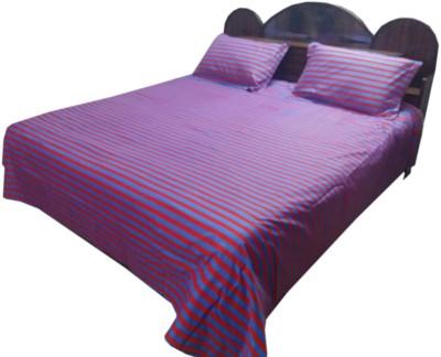 Shreem 2015 Polycotton Striped Double Bedsheet