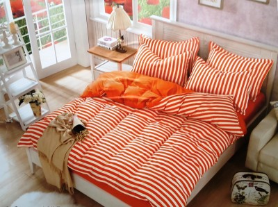 Reliable Polycotton Striped Double Bedsheet
