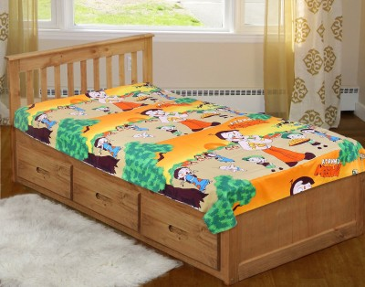 The Home Story Cotton Abstract Single Bedsheet