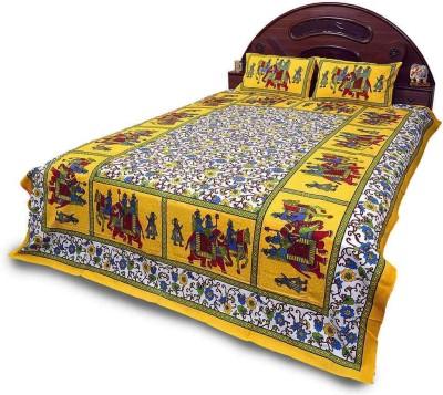 Little India Cotton Floral Double Bedsheet