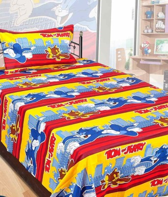 HSR Collection Cotton Printed Single Bedsheet