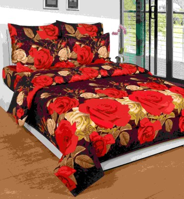 SKYTEX Cotton Floral King sized Double Bedsheet