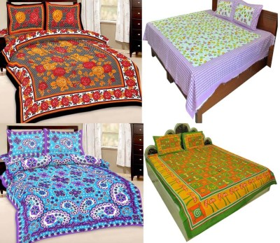 Shopping Rajasthan Cotton Printed Double Bedsheet