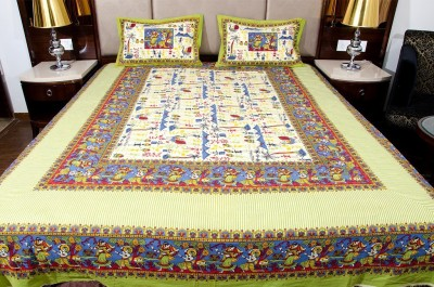 Om Prints Cotton Polka Double Bedsheet