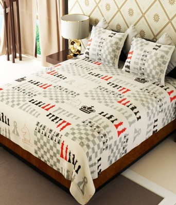 HSR Collection Cotton Abstract Double Bedsheet