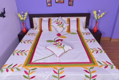 Calypso Silk Embroidered Double Bedsheet